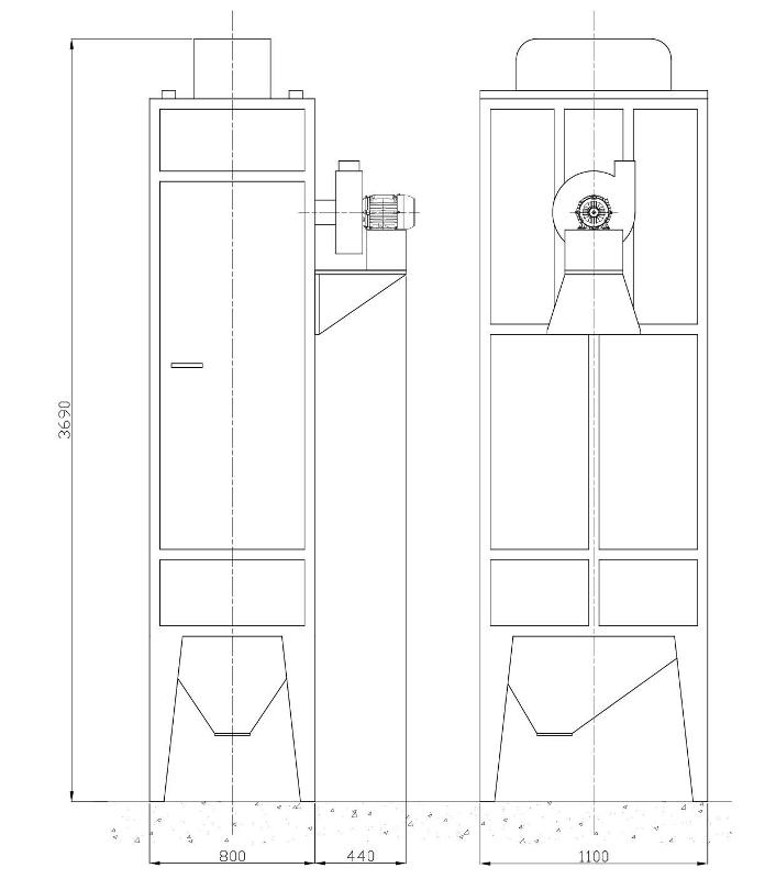 FILTRO a 6 MANICHE COSER HF6 - Accessori sabbiatrici e granigliatrici