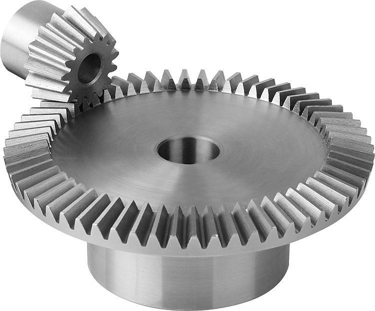 Engrenage conique en acier, rapport 1:4 Denture droite... - Engrenages droit Crémaillères Engrenages coniques