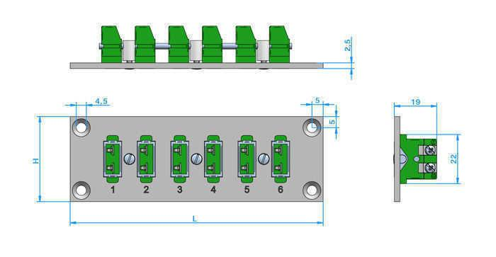 Panel Assembly Miniature Horizontal, self-locking (PAML) - Panel Miniature Insert