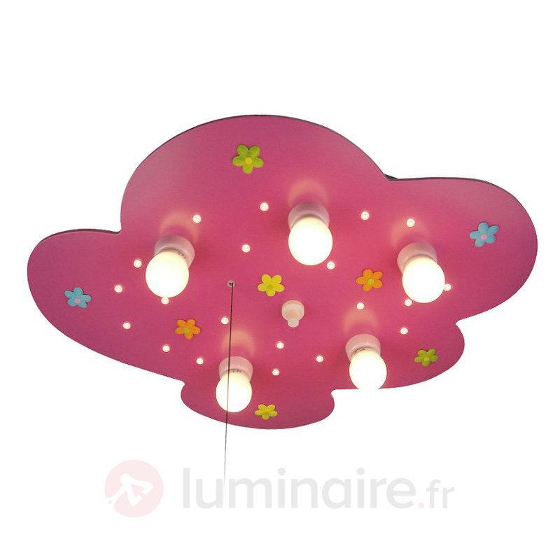 Plafonnier Petit Nuage avec motif floral - Chambre d'enfant