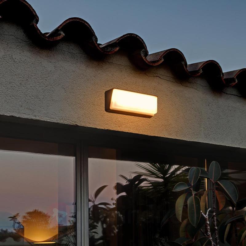 Applique extérieure intemporelle Half, éclair. LED - Appliques d'extérieur LED