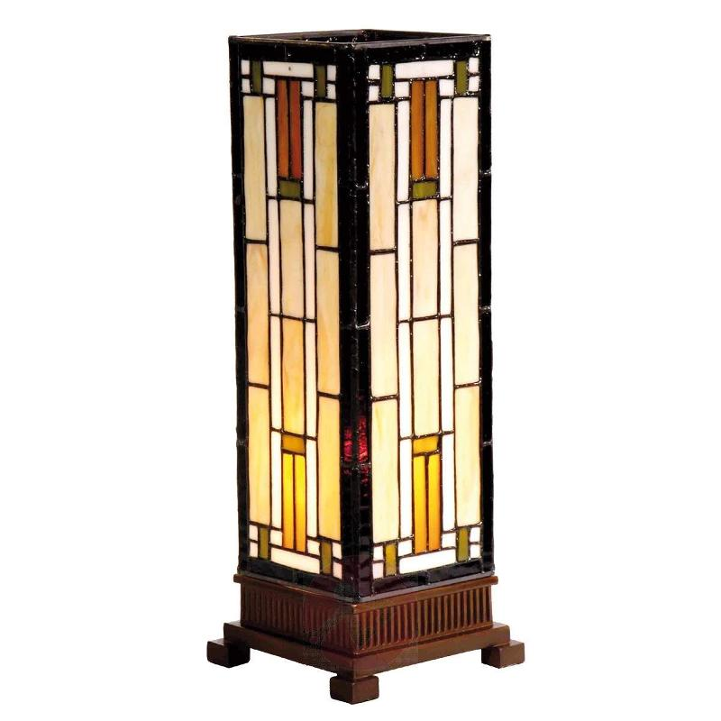 Bridget - a table lamp in cream and amber - Window Sill Lights