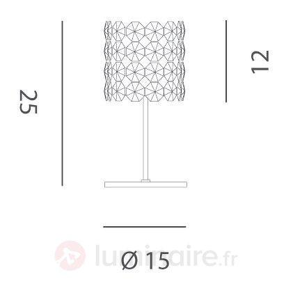 Lampe à poser en cristal BACCARAT, interrupteur - Lampes à poser en cristal