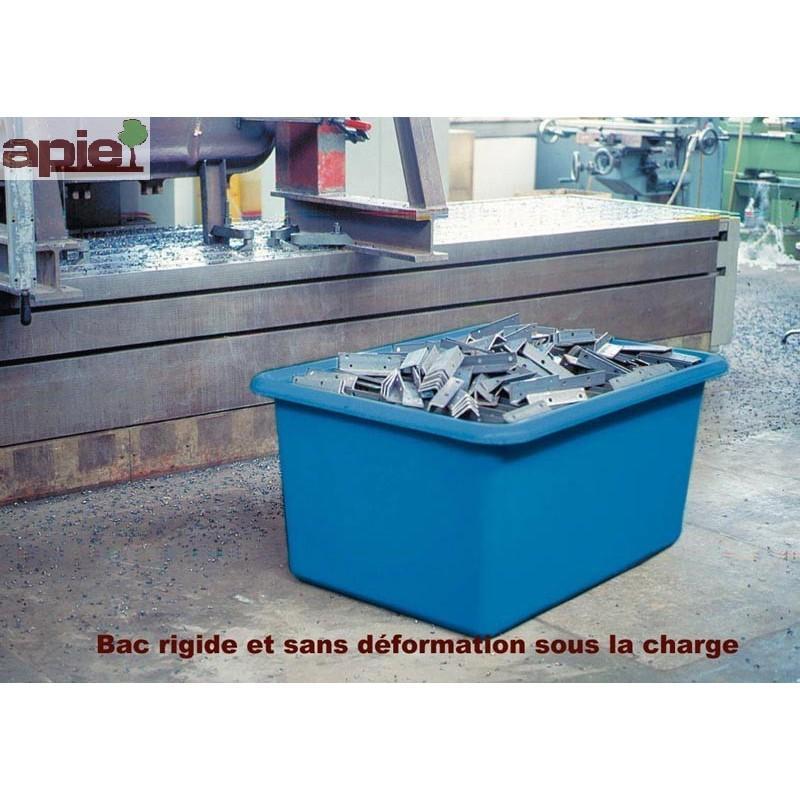 Bac de manutention avec fourreaux Coloris Vert - Référence : BAC/1204