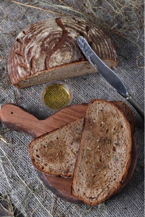 Rye flour  - Whole-grain/wholemeal rye flour