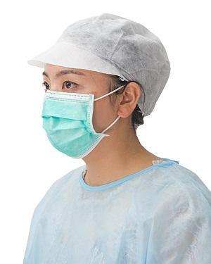 Gorra de visera - Material: PP no tejido Color: blanco Peso: tapa de 30gsm-40gsm, pico de 80 gsm T
