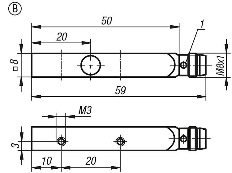 Inductive proximity switches rectangular housing - Proximity switches and connectors