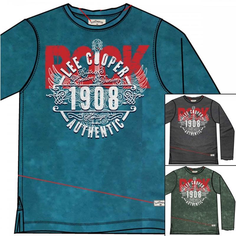 15x T-shirts manches longues Lee Cooper du 6 au 14 ans - T-shirt et polo manches longues