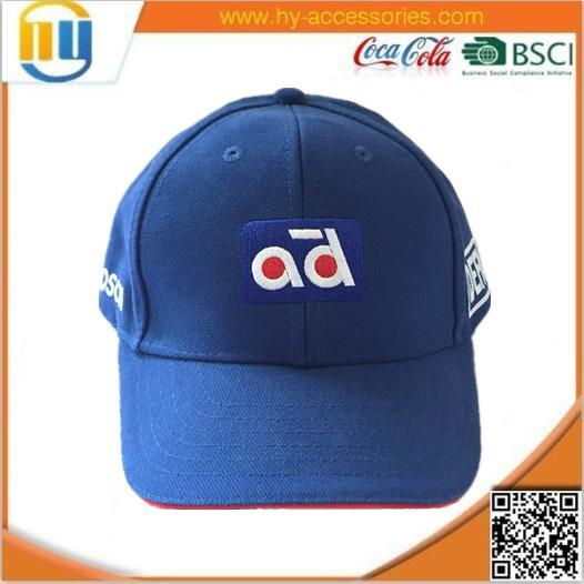 heawear, blue embroidery baseball cap,customized hat