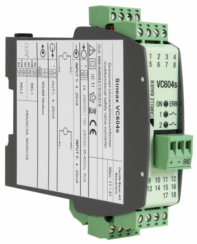SINEAX VC604s - Programmierbarer multifunktionaler Grenzwert-Messumformer