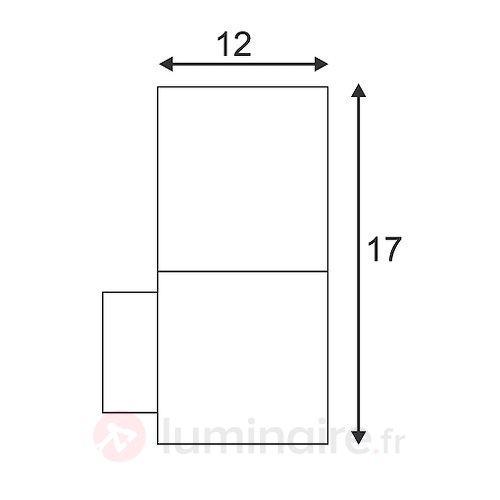 Applique rectangulaire d'extérieur GRAFIT - Toutes les appliques d'extérieur