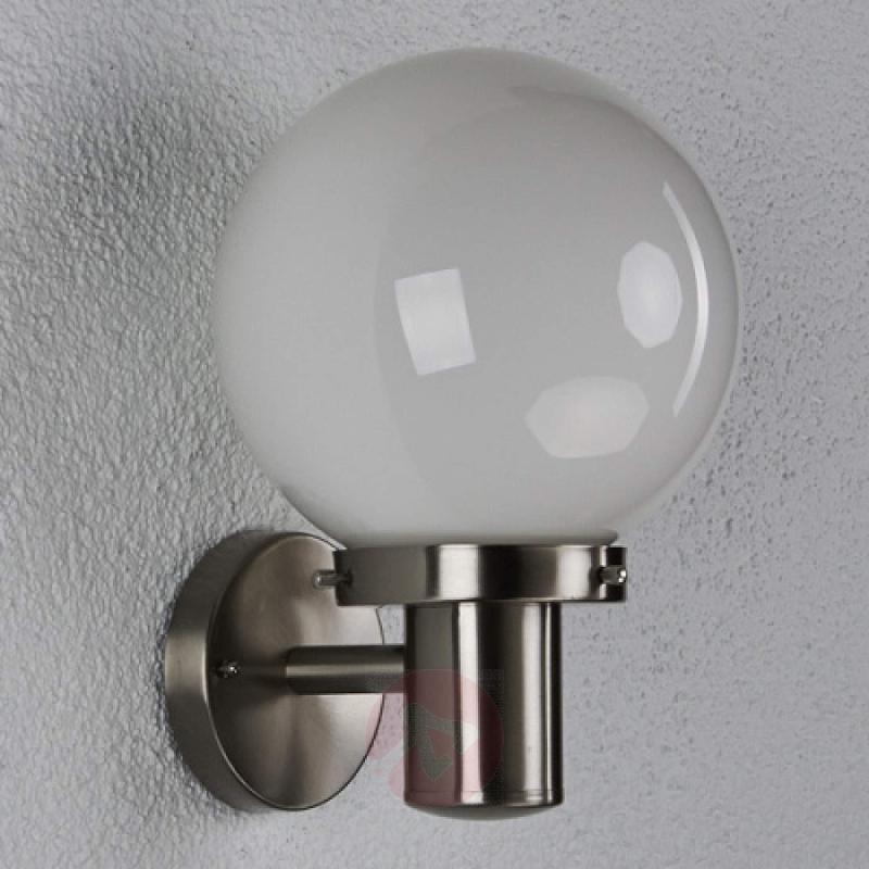 Samuel Outside Wall Light Spherical - stainless-steel-outdoor-wall-lights