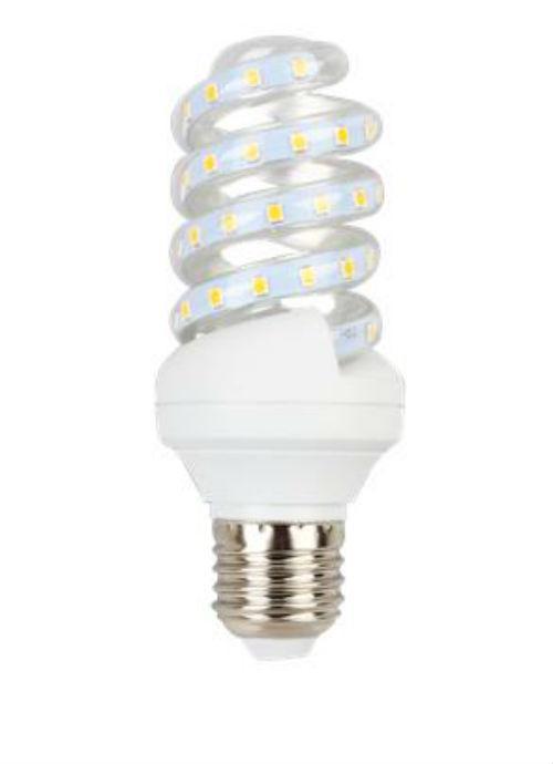 Lampadine LED a spirale E27 - 9/11W trasparente 3000/4000/6400K 750/950/980/1000lm