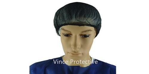 Gorra de malla negra de nylon -