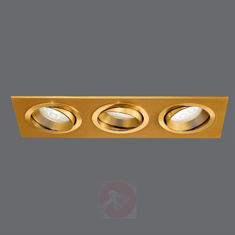 Minar LED Built-In Light Three Bulbs Brass - Recessed Spotlights