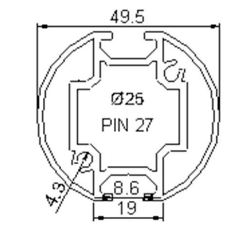 Profilés ROND - RD2-45,5