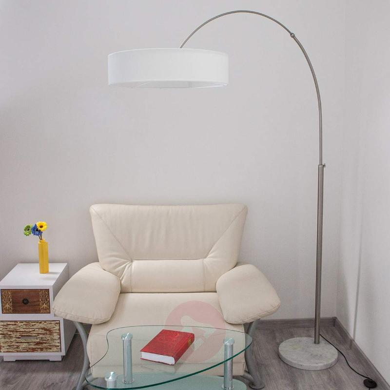 White Shing fabric floor lamp - Floor Lamps