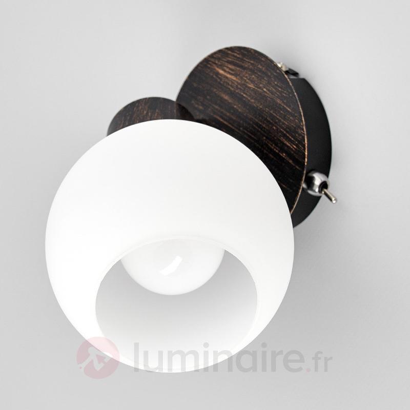 Applique LED Elaina couleur rouille - Appliques LED