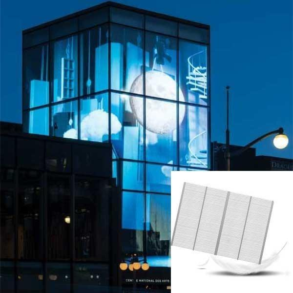 Panou Led transparent - Afișaj LED transparent AVA pentru a fi utilizat la placarea clădirilor