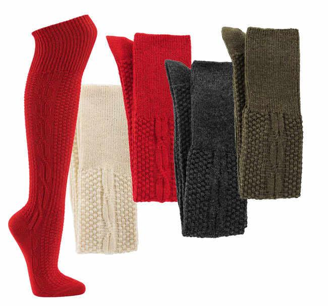 """6684 - Knickerbocker-Socks """"Colored""""  - Our well-known quality! No shrinking or felting. With left/left knitting pattern"""