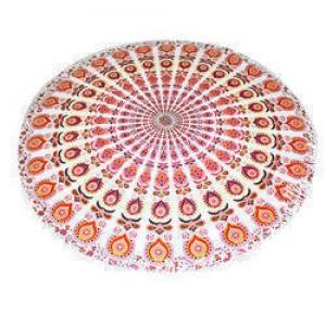 Cotton Throw Yoga Roundie -