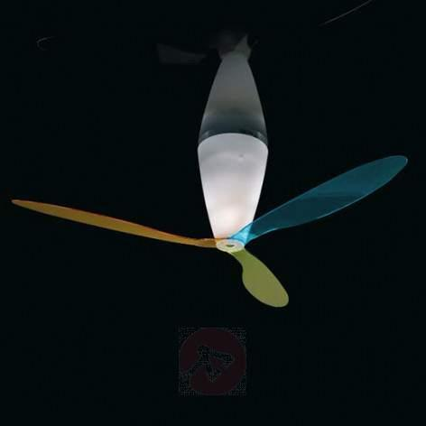 Blow ceiling fan with light - multi-coloured - fans