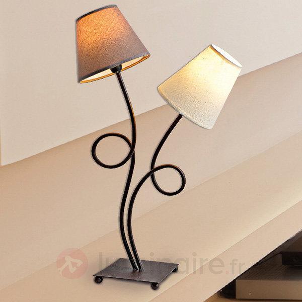 Lampe à poser tissu Twiddle à deux lampes - Lampes à poser en tissu