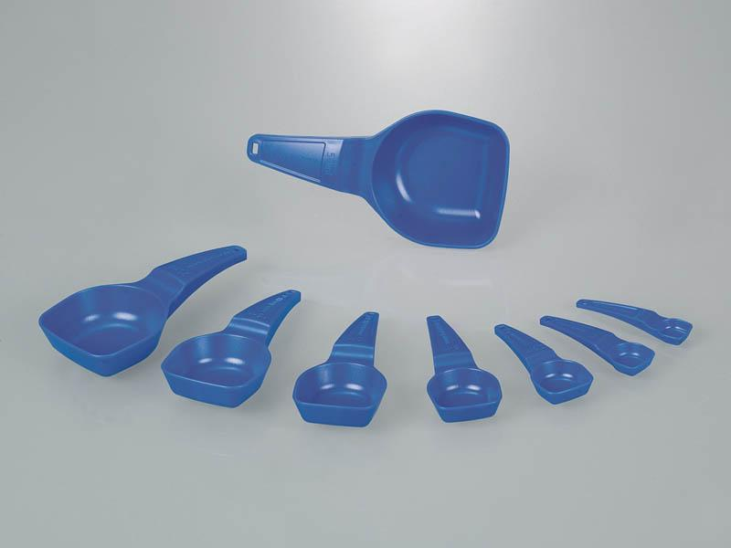 Volumetric and dosing spoons - with stripper edge for exact measuring.
