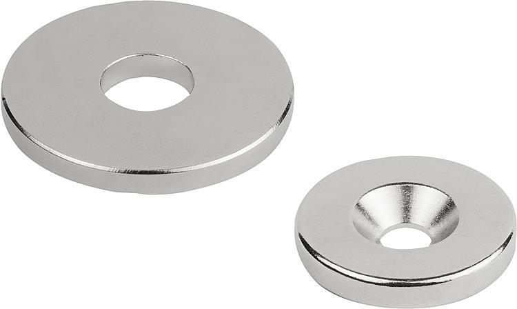 Магниты-заготовки (дисковые) с отверстием из NdFeB - K1405