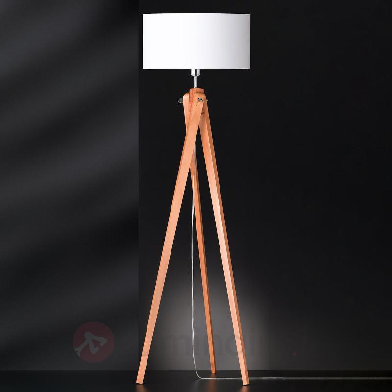 Lampadaire en bois à trois pieds Gin - Lampadaires en bois