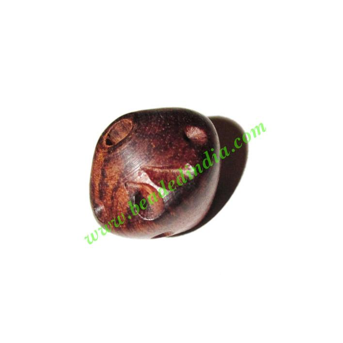 Rosewood Beads, Handcrafted designs, size 15x17mm, weight ap - Rosewood Beads, Handcrafted designs, size 15x17mm, weight approx 2.29 grams