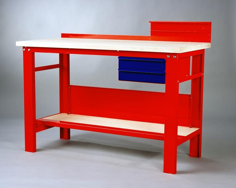 Robust workbench with two drawers