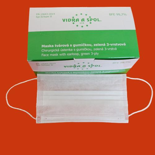 Three-layer nonwoven face mask