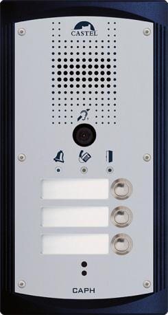 CAPH V3B - Portiers téléphoniques - Portier audio vidéo 3 boutons d'appel conforme loi Handicap