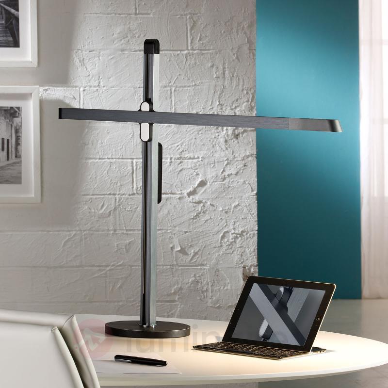 Lampe de bureau LED Tecton, gris saphir - Lampes de bureau LED