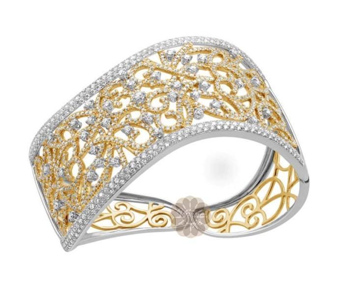 Antique Diamond and Gold Cuff -