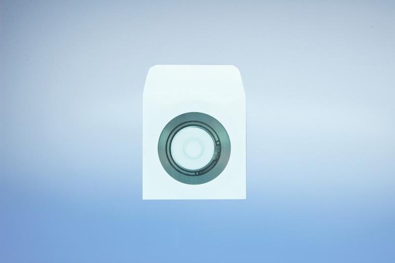 Papierfenstertasche für 8cm CD - mit SK-Klappe und... - Papierstecktaschen