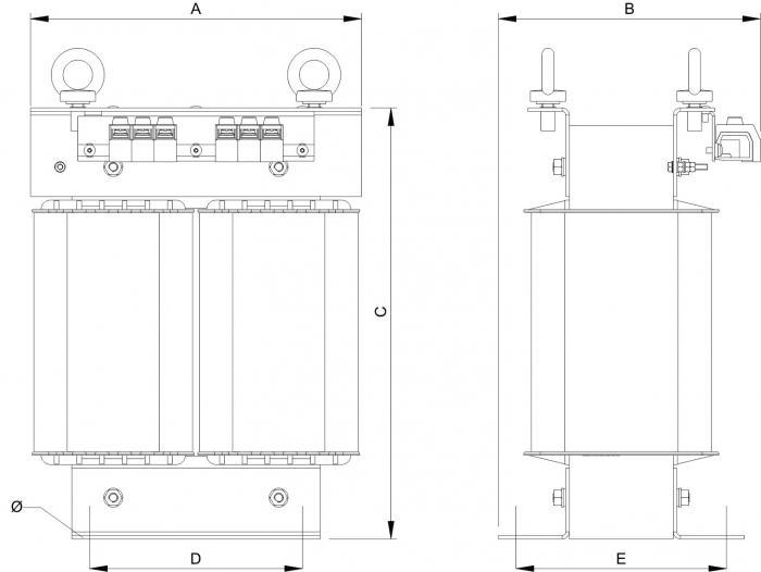 Trenntransformatoren - Einschaltstrombegrenst - Energieeffizient - 230EC7400/IRC