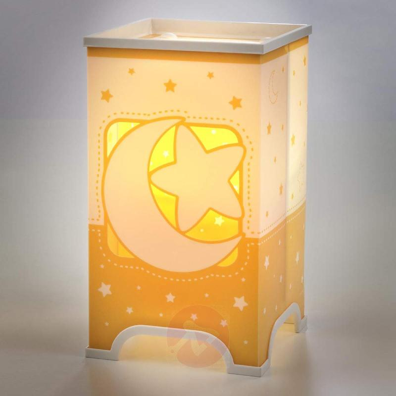 Fluorescent table lamp Stars in orange - Table Lamps