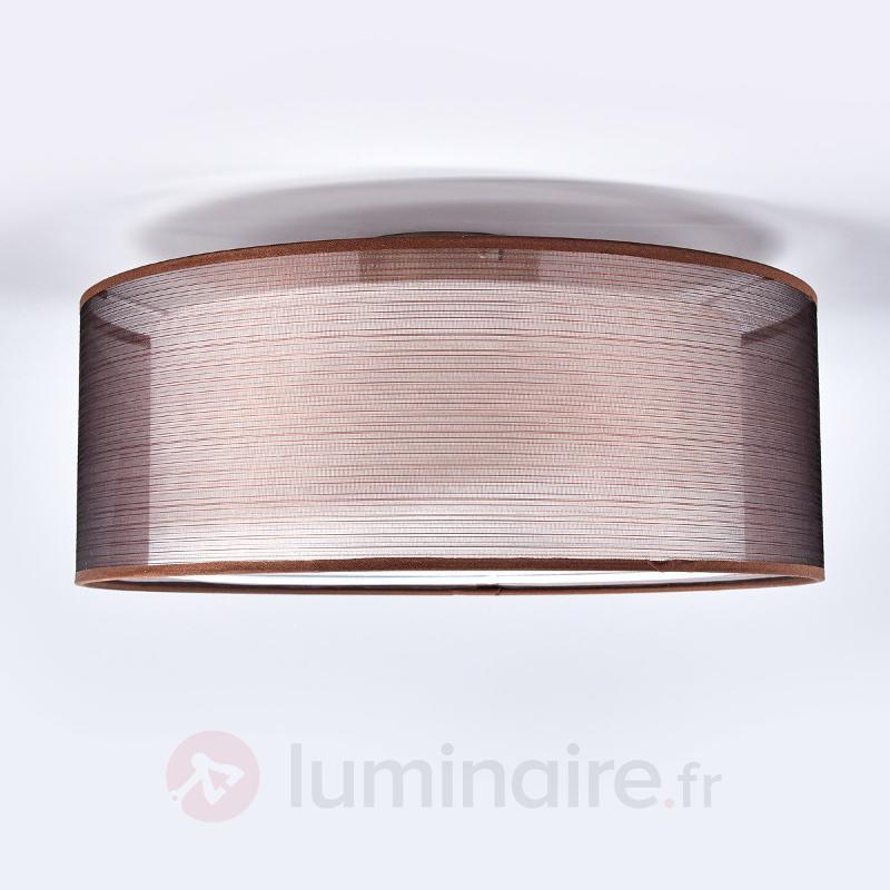 Plafonnier en tissu brun Nica - Plafonniers en tissu