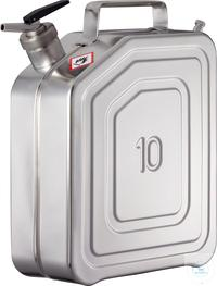 Canisters - Safety canister (10 liters) with self-closing tap and separate ventilation: 10KZ