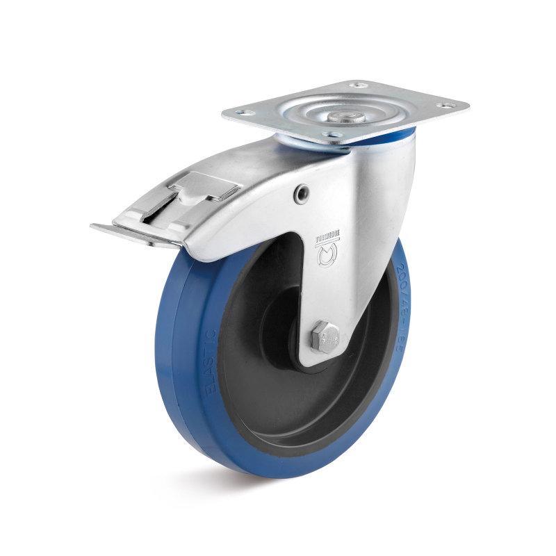 Elastik-Gummirollen bis 350 kg - Radserie EGK in Standard IL-Gehäuse, Stahlblech verzinkt