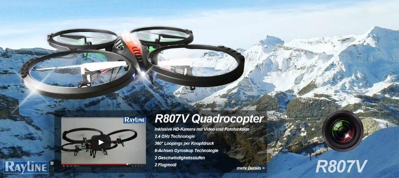 RC Ware anderer Hersteller RC Quadrocopter - R807V