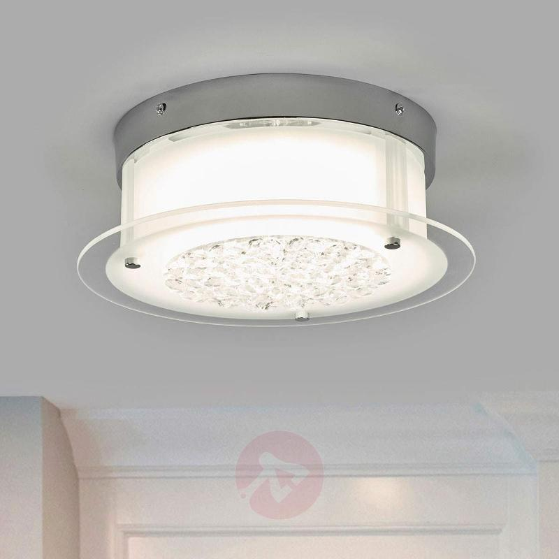 Gloriena Bright Crystal Ceiling Lamp with LED - Ceiling Lights