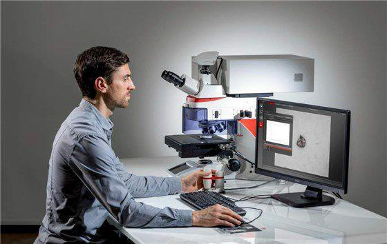 Microscopi con spettrometro LIBS - Soluzione di analisi della composizione della microstruttura DM6 M LIBS