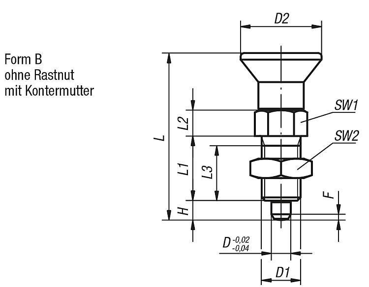 Flexibles Normteilesystem - Arretierbolzen