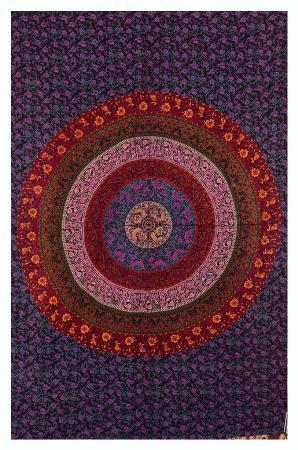 Indian Wall Hanging Mandala Tapestry Hippie Bedspread Ombre