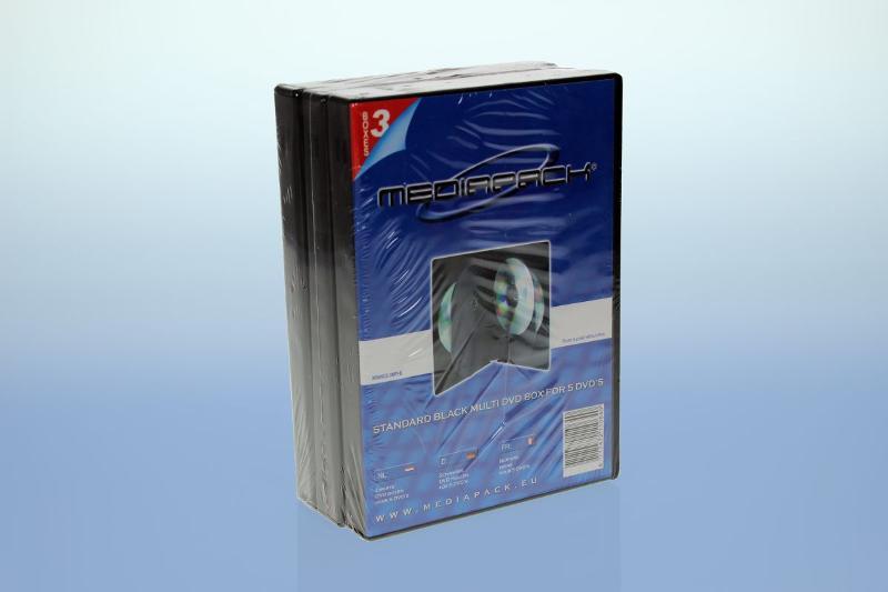 DVD Box 5-fach mit Tray - 21mm - 3er Pack - schwarz - Retailverpackungen & Zubehör