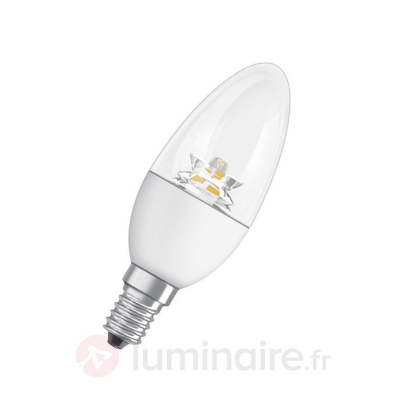 Ampoule flamme LED E27 3,3W 827, transparente - Ampoules LED E14