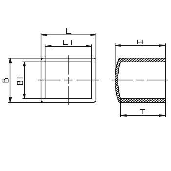 N261 Embouts coiffants carrés ou rectangulaires - Pièces de finition